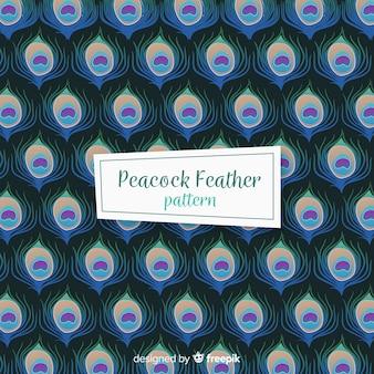 Pfauenfeder-Muster