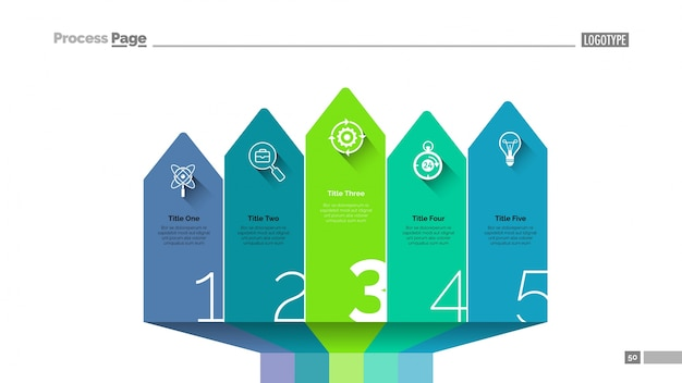 Pfeil design infografiken folie vorlage