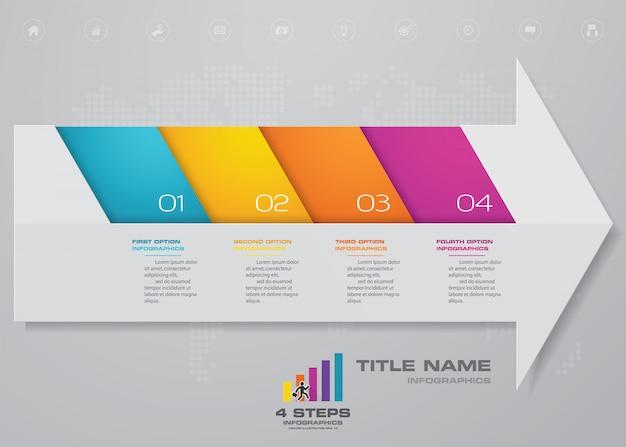 Pfeil diagramm und timeline infografiken element.