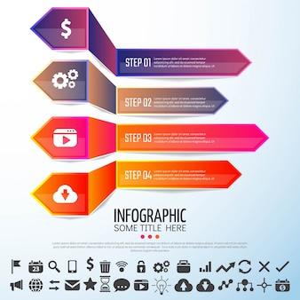 Pfeil-infografik-design-vorlage