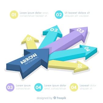 Pfeil-infografik