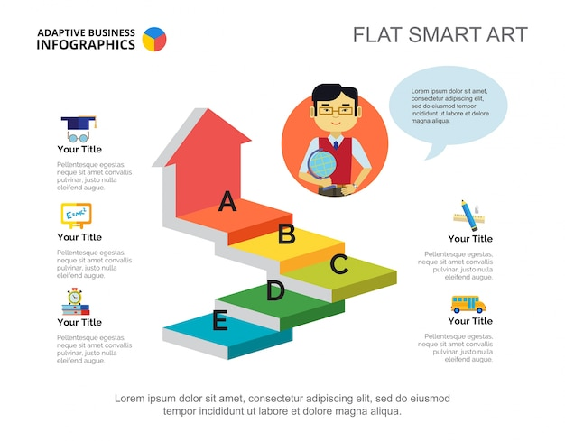 Pfeil infografiken slide-vorlage