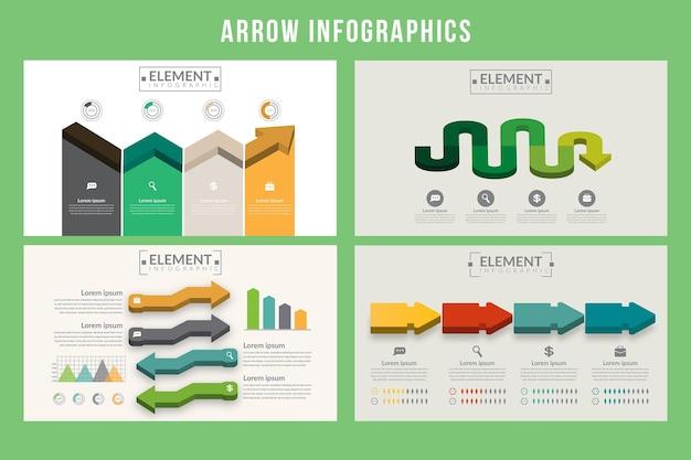Pfeil infografiken