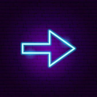 Pfeil leuchtreklame 3. vektor-illustration der richtungsförderung.