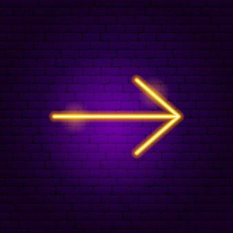 Pfeil leuchtreklame 7. vektor-illustration der richtungsförderung.