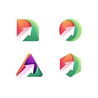 Pfeil-logo-design-set