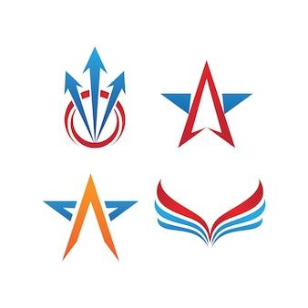 Pfeil-vektor-illustration-symbol logo-vorlagen-design