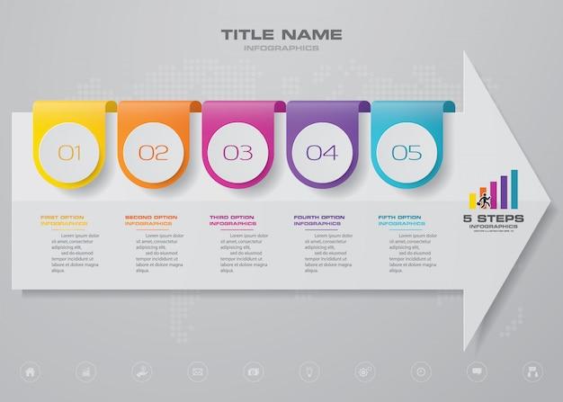 Pfeildiagramm und infografikenelement der zeitleiste.