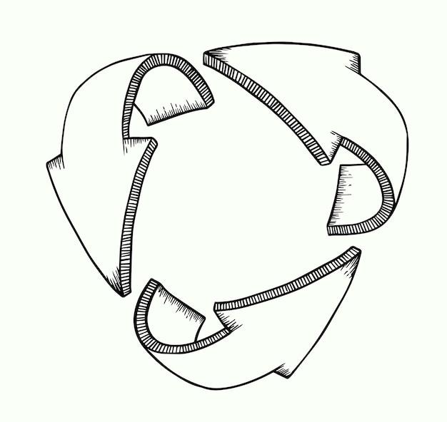 Pfeile 3d, die schutz oder bewegung symbolisieren.