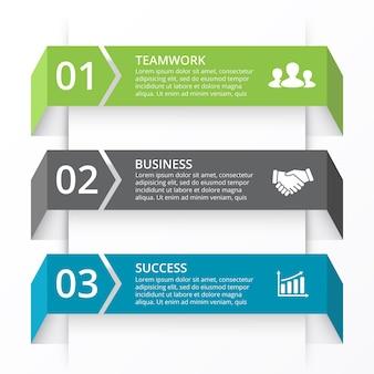 Pfeile bändervektor infografik präsentationsvorlage kreisdiagramm diagramm mit 3 optionen