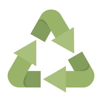 Pfeile bereiten symbol grünes lokalisiertes ikonendesign auf