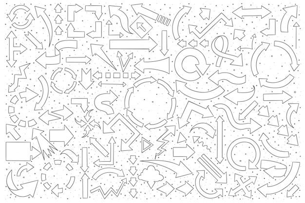 Pfeile doodle set