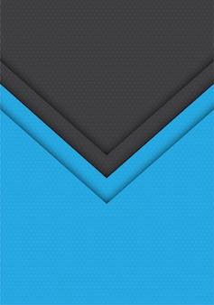 Pfeilhexagonmaschenmuster-richtungshintergrund des blauen graus.