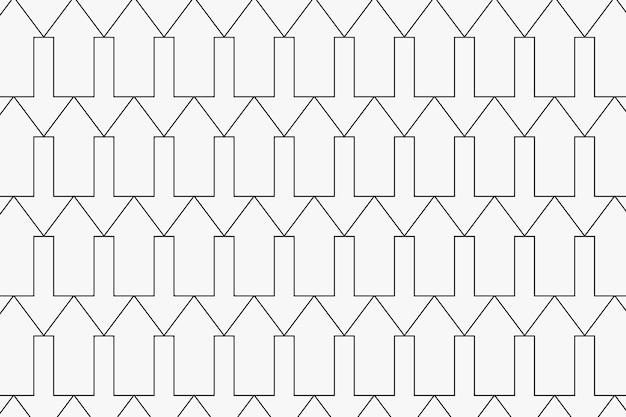 Pfeilmusterhintergrund, abstrakter geometrischer, einfacher designvektor