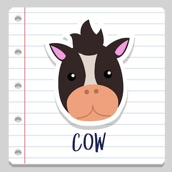 Pferd bauernhof tier notebook clipart