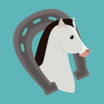 Pferd design.