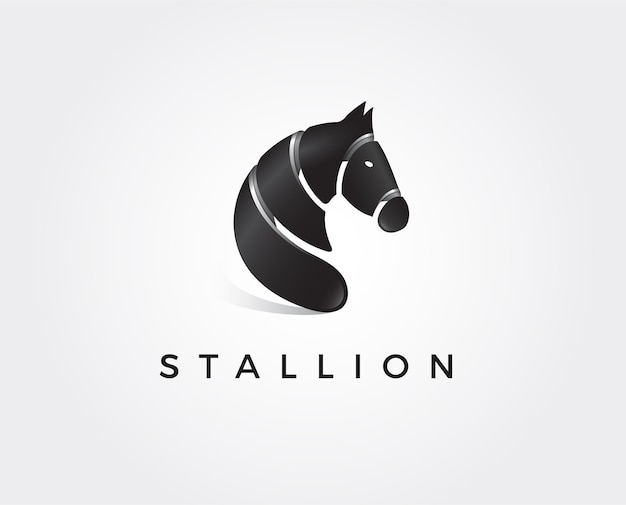 Pferd elegante logovorlage