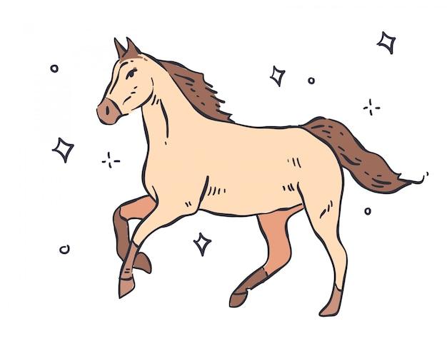 Pferd gekritzel. pferdeabbildung
