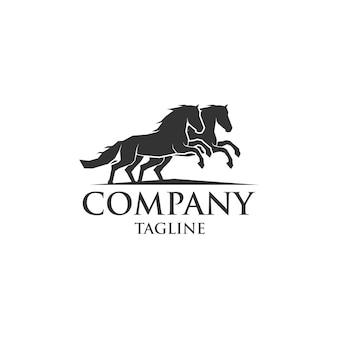 Pferd läuft logo vorlage