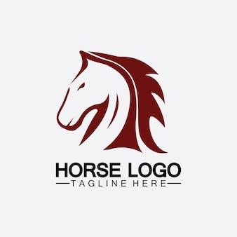 Pferd logo vorlage vektor illustration design