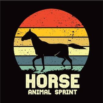 Pferd sillhouete
