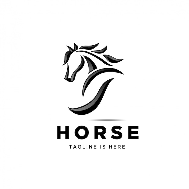 Pferd zurück, esel ansicht rückseite pferd logo