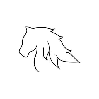 Pferdekopf-vektor-illustration