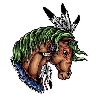Pferdekopf-verzierung