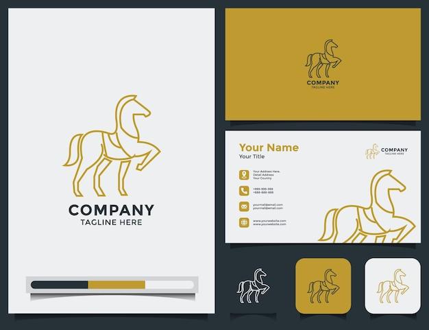 Pferdelogo und visitenkarte