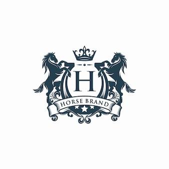 Pferdemarke, logo-vorlage