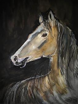 Pferdeschönheiten aquarelle hintergrund