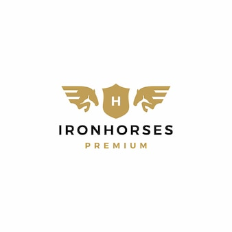 Pferdewappen logo-ikonenillustration