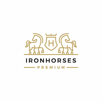 Pferdewappen logo vektor