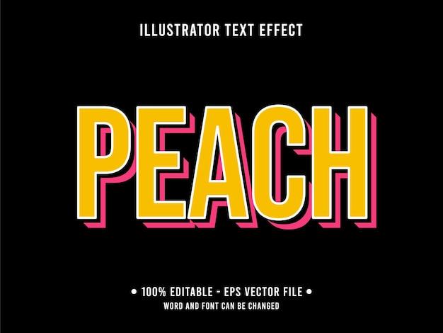 Pfirsich bearbeitbare texteffektvorlage