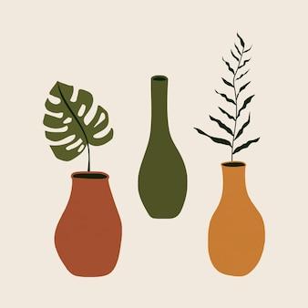 Pflanze im vasenvektorelement