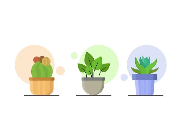 Pflanzen illustration im flachen stil stil