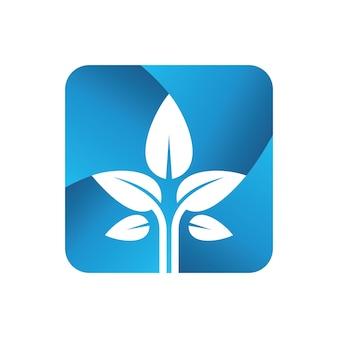 Pflanzen logo vorlage