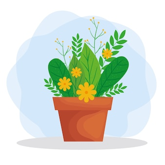 Pflanzen sie in topfillustration