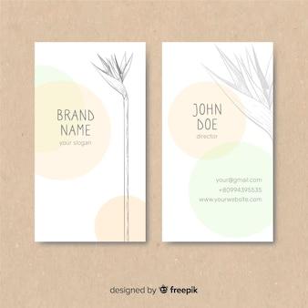 Pflanzen skizze visitenkarte