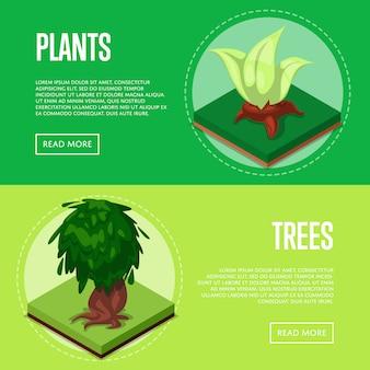 Pflanzen und bäume für parkplakate