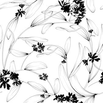 Pflanzen und Kräuter nahtlose Muster. Element für Design oder Einladungskarte