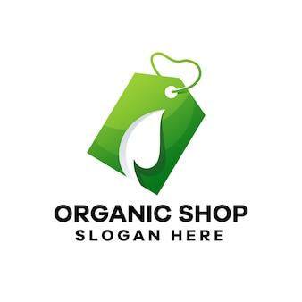 Pflanzenladen logo-design mit farbverlauf