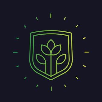 Pflanzenschutz, landwirtschaftslinie vektorsymbol