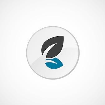 Pflanzensymbol 2 farbig, grau und blau, kreisabzeichen