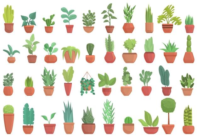 Pflanzensymbole gesetzt. cartoon-set von pflanzensymbolen