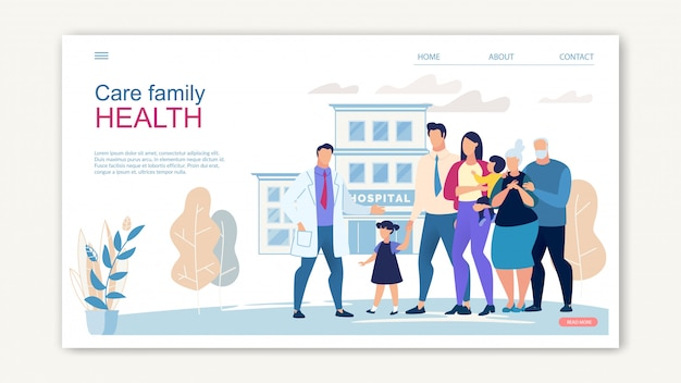 Pflege family health website banner