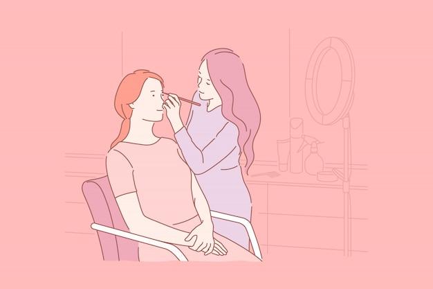 Pflege, schönheit, make-up, enthaarungskonzept.