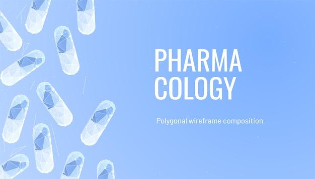 Pharmakologiehintergrund mit pillen
