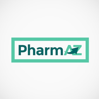 Pharmazeutische az buchstaben logo