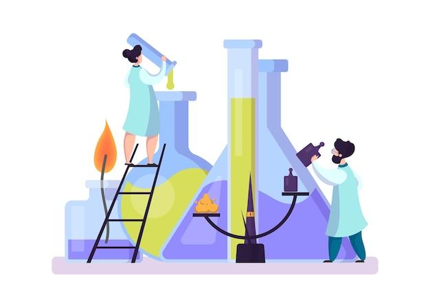 Pharmazeutische forschung. wissenschaftler, der den klinischen test macht